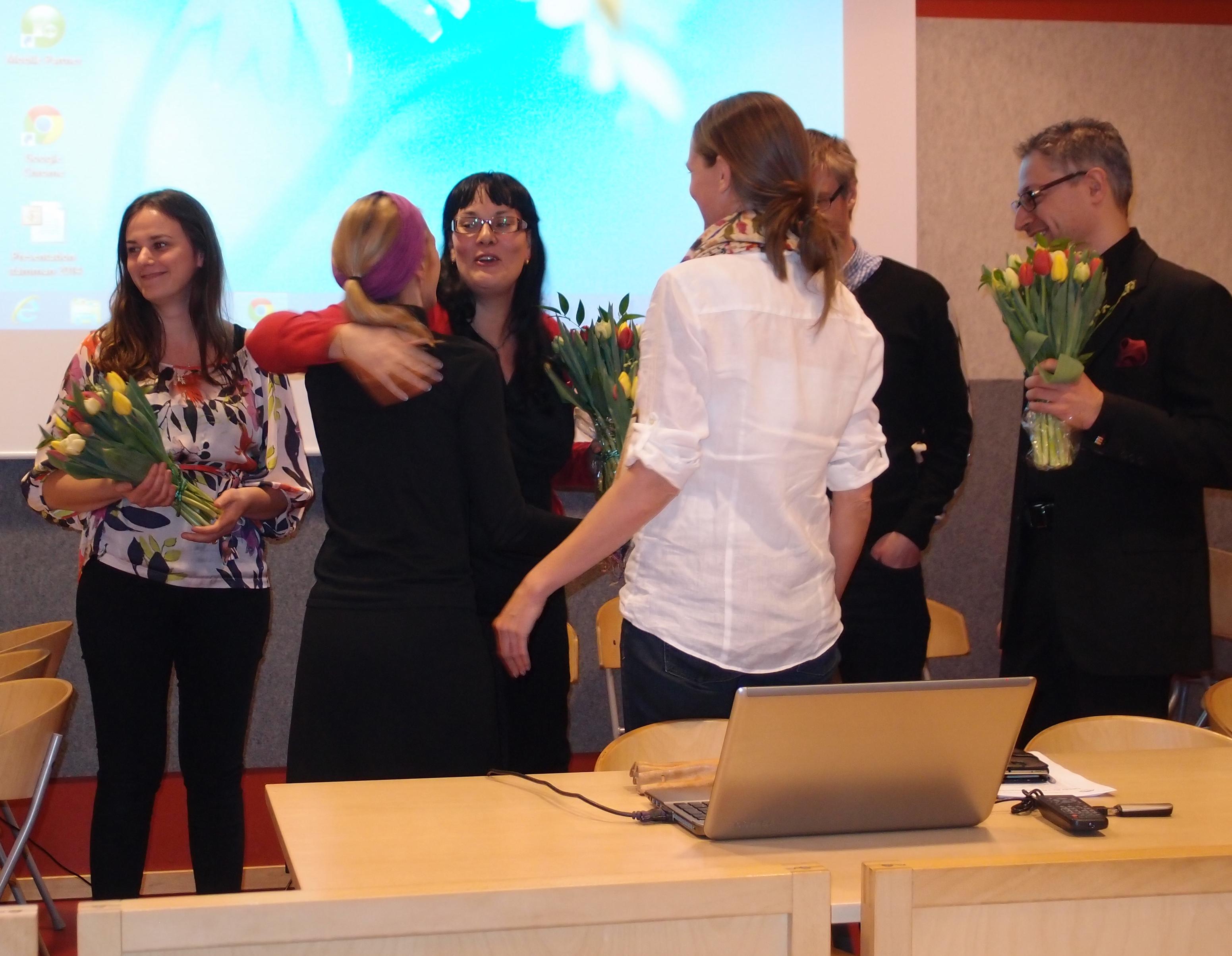 Ordförande Jenni Ahlgren avtackades efter många år som engagerad i styrelsen.